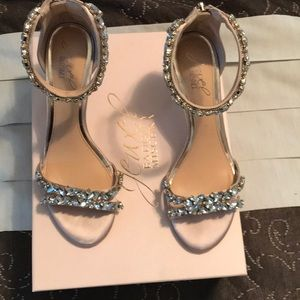 Badgley Mishka jeweled heels